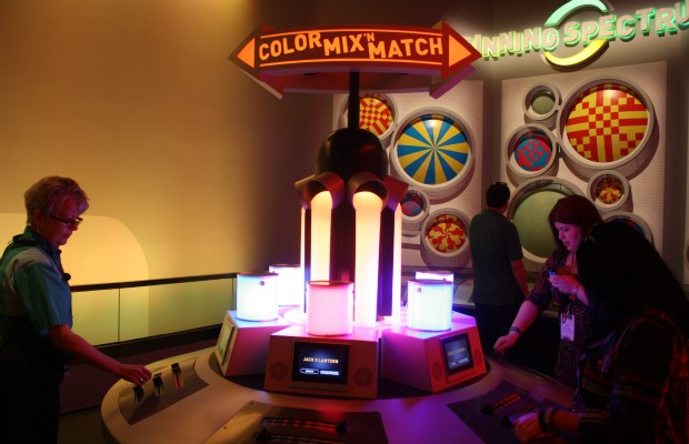 Colortopia's Color Mix 'N Match game at Epcot