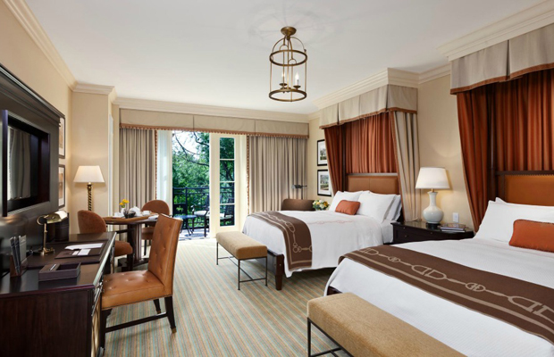 Double queen room at Salamander Resort & Spa, Middleburg, Virginia