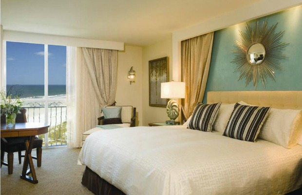 A guestroom at Florida's One Ocean Resort