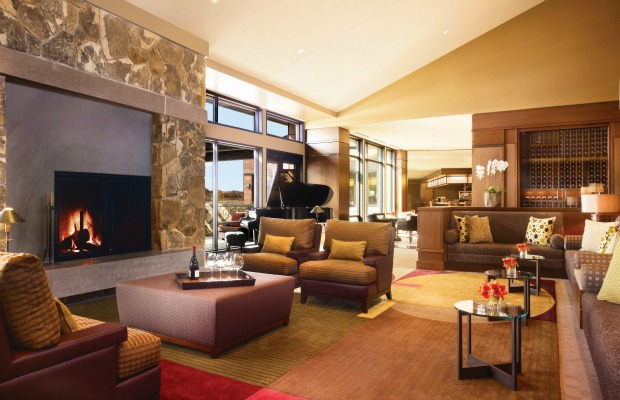 Living room at The Allison Inn & Spa in Oregon