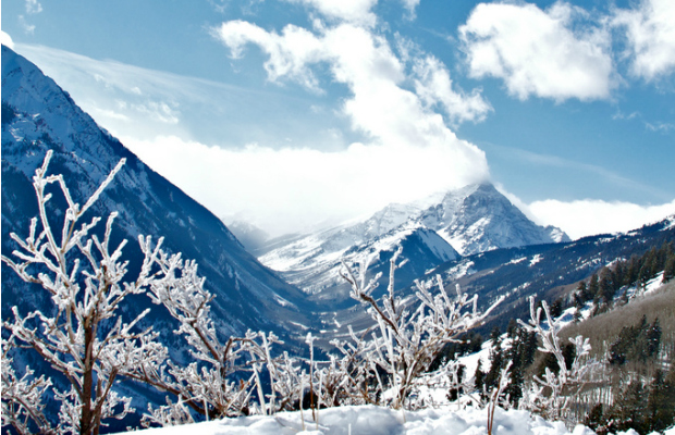 View of Marion Bells (Aspen, CO) from Buttermilk Mountain