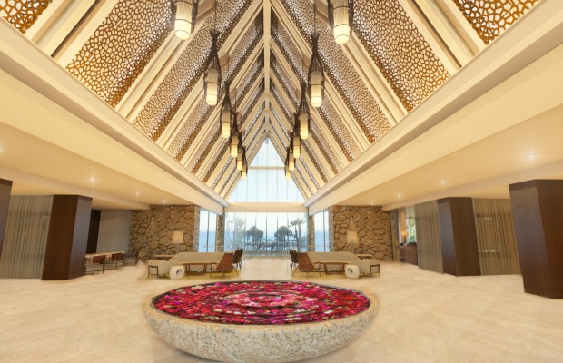 The new lobby at Florida's Marco Island Marriott Beach Resort, Golf Club & Spa