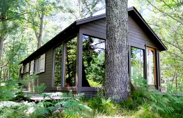Pere Marquette Riverfront Cabin in Baldwin, Michigan