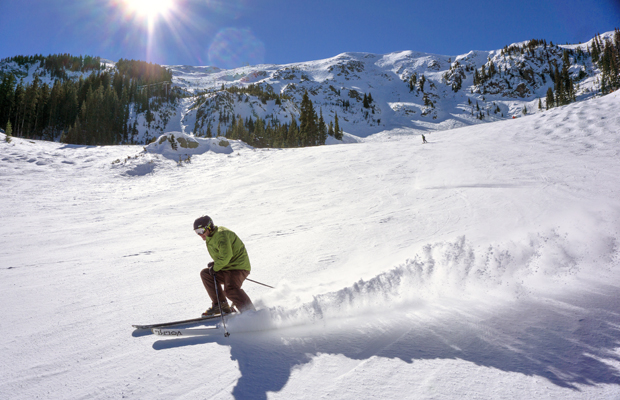 Skiing in Taos, New Mexico by Steve Larese