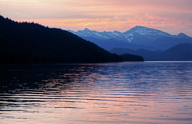 Sunset from the cruise ship in Thomas Bay, Alaska - Flickr_Mark Byzewski