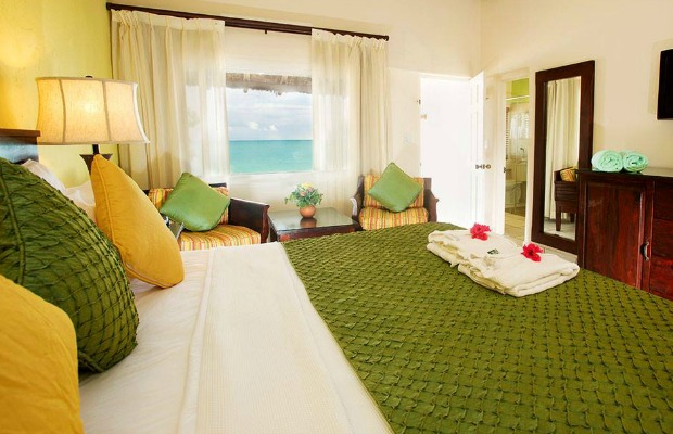 A guestroom at Antigua's Galley Bay Resort and Spa