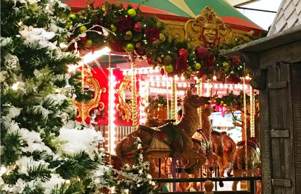 The carousel at California's South Coast Plaza Mall