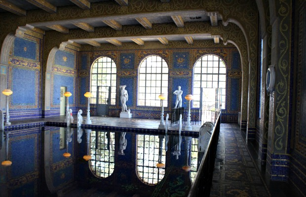The indoor Roman Pool at Hearst Castle in California