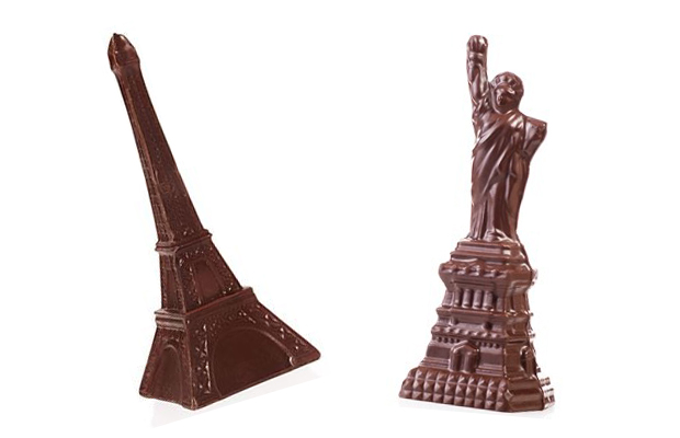 Li-Lac Chocolates landmark buildings, a great gift for travelers