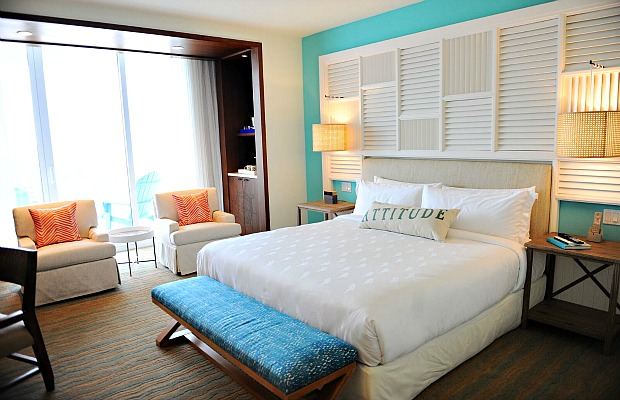A guestroom at Margaritaville Hollywood Beach Resort in Hollywood, Florida