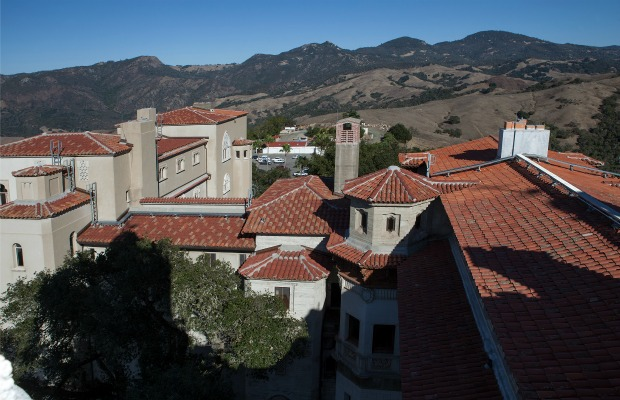 The new roof of California's Hearst Castle
