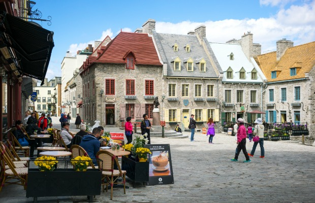 Old Town in Quebec City, Canada.