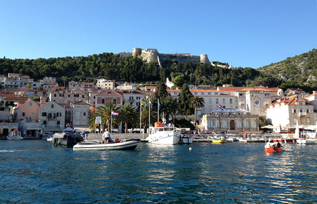 View of fortress in Hvar, Croatia -- Nilina Mason-Campbell