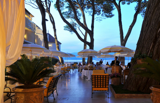 "Dinner at La Vague d'Or at La Residence de la Pinede, Saint-Tropez -- included on a Regent Seven Seas Cruises ""Gourmet Explorer"" tour"