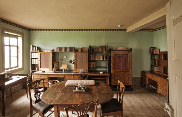 Goethe's study inside the Goethe House