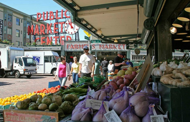Farmer's market in Seattle, Washington