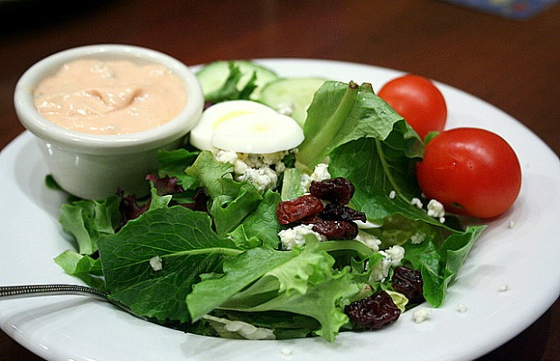 Salad with dressing on the side