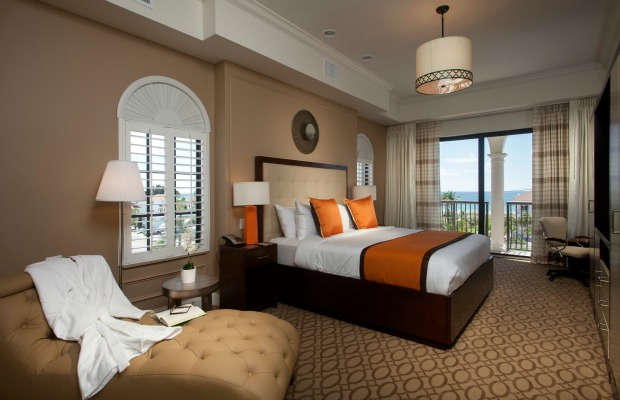 A king room at The Hotel Zamora in St. Pete Beach, Florida.