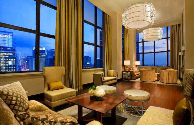 Penthouse Suite at Sheraton New York Times Square in New York City.