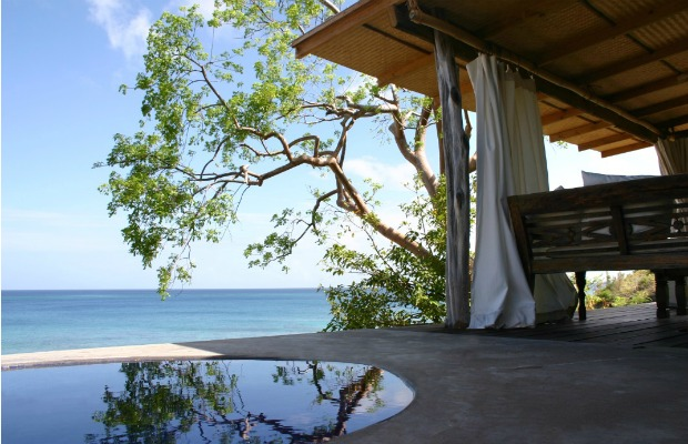 A cottage plunge pool at Laluna Resort in Grenada