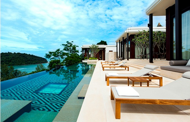 The pool at Anantara Layan Phuket Resort in Thailand