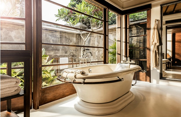 Bathroom in the Premier Villa at Four Seasons Jimbaran Bay in Bali