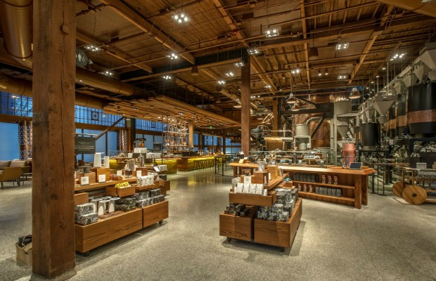 The retail area of Starbucks Reserve and Roastery