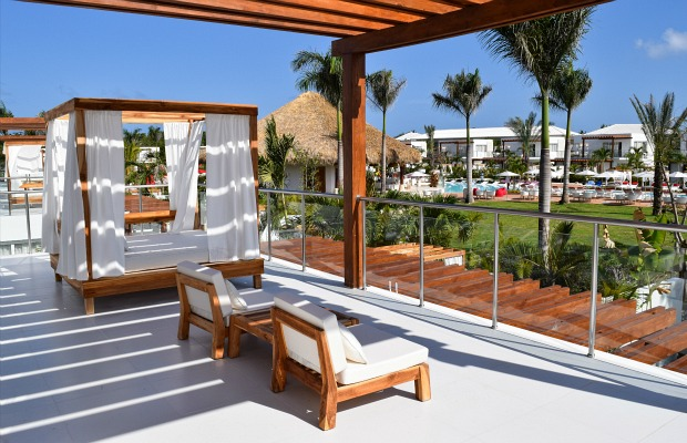 A guestroom balcony at Zen Oasis in Punta Cana.