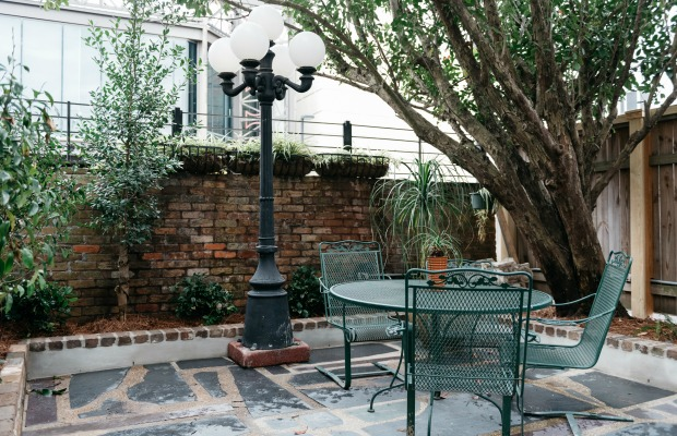 The courtyard at the Henry Howard Hotel in New Orleans, Louisiana