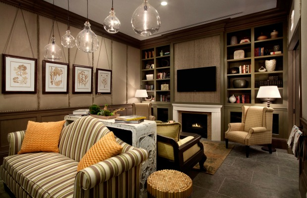 The library at Hotel Chandler in New York City