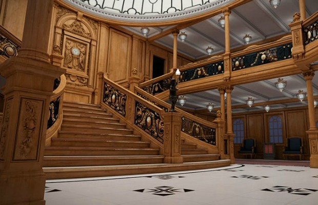 A rendering of Titanic II's grand staircase