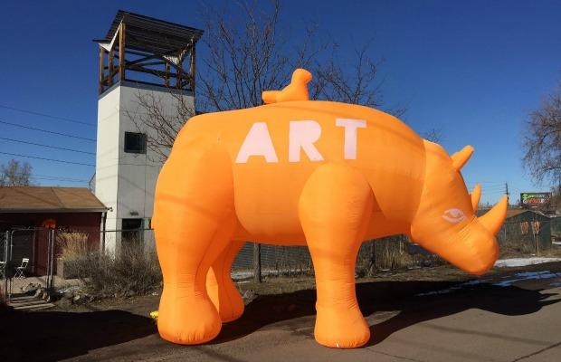 RiNo Art District mascot in Denver, Colorado