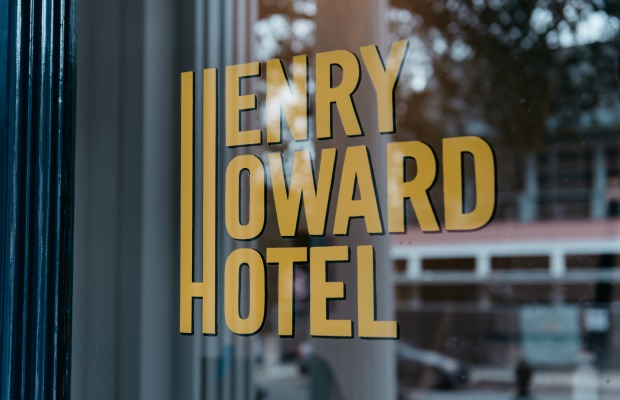 The sign at Henry Howard Hotel in New Orleans, Louisiana