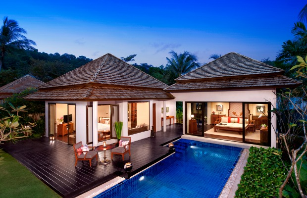Beach villa at Anantara Phuket Layan in Thailand