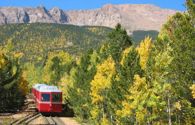The Pikes Peak Cog Railway in Colorado