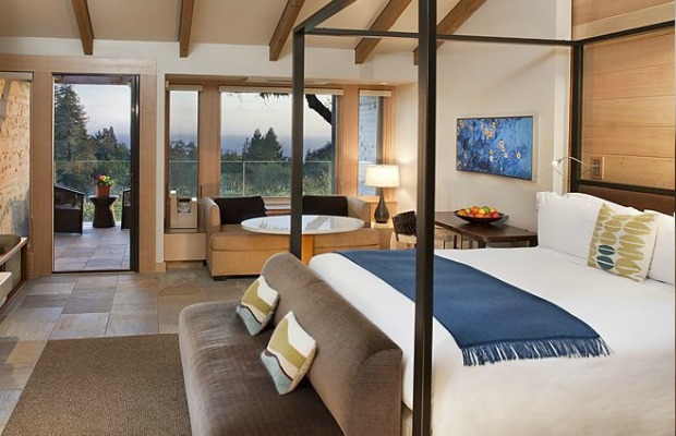 Guestroom at Ventana Inn and Spa in Big Sur, California