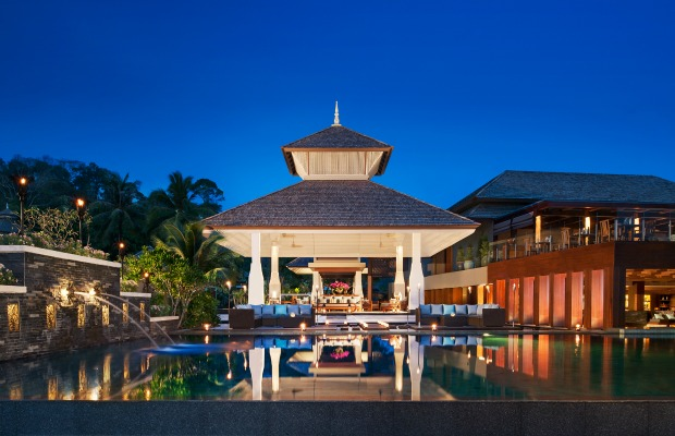 The lobby of Anantara Phuket Layan in Thailand
