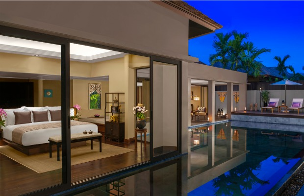 Pool villa at Anantara Phuket Layan in Thailand