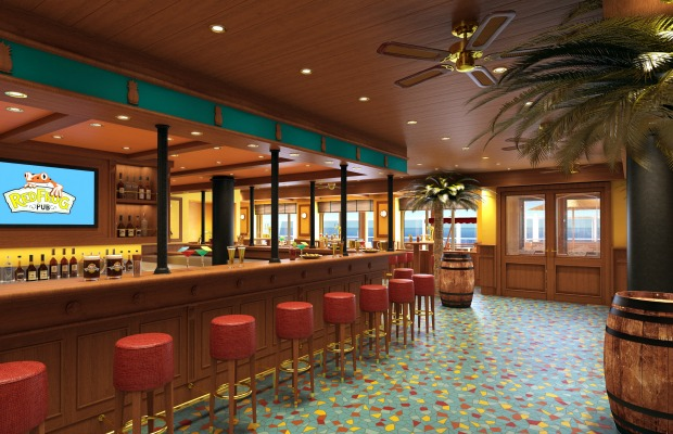 Rendering of RedFrog Pub and Brewery on Carnival Vista