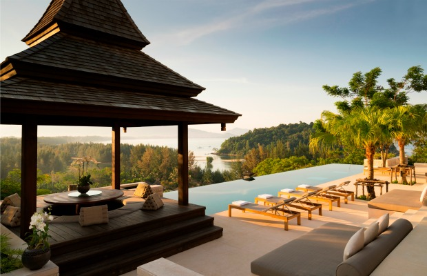 Sala and pool at Anantara Layan Phuket in Thailand