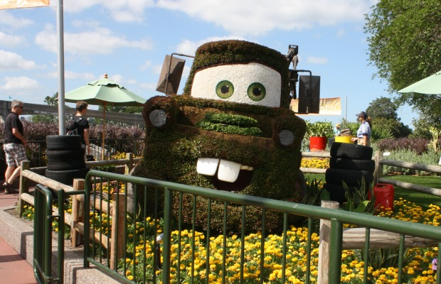Mater topiary at Epcot