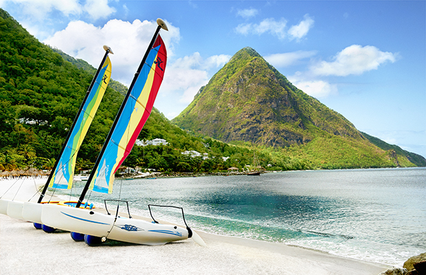 Sugar Beach in St. Lucia