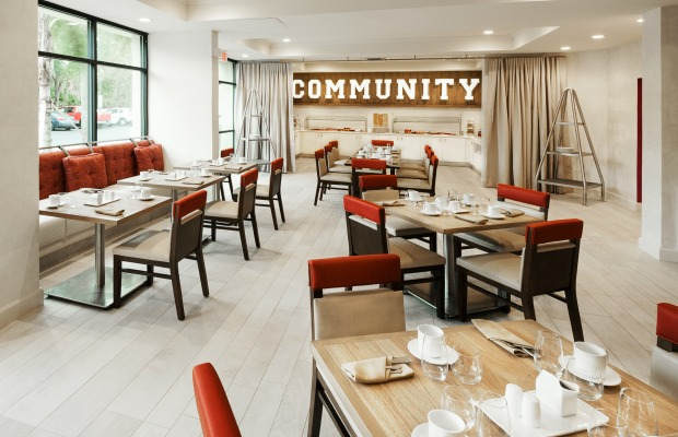 Community Table at Delta Orlando in Florida