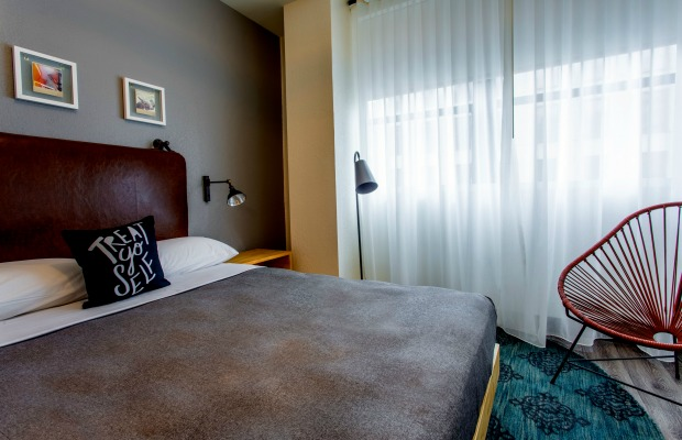 Guestroom at Louisiana's Moxy New Orleans