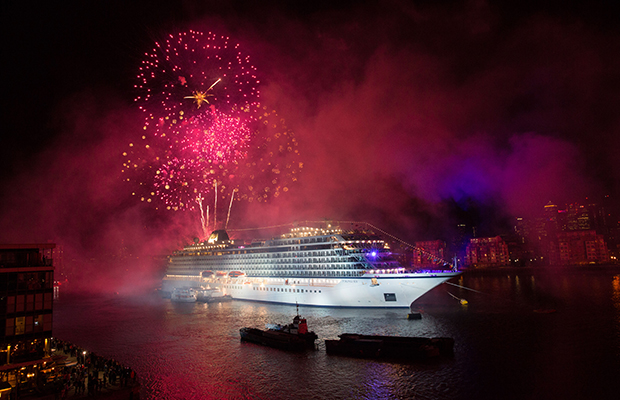 The Viking Sea christening on the Thames/Courtesy Viking Cruises
