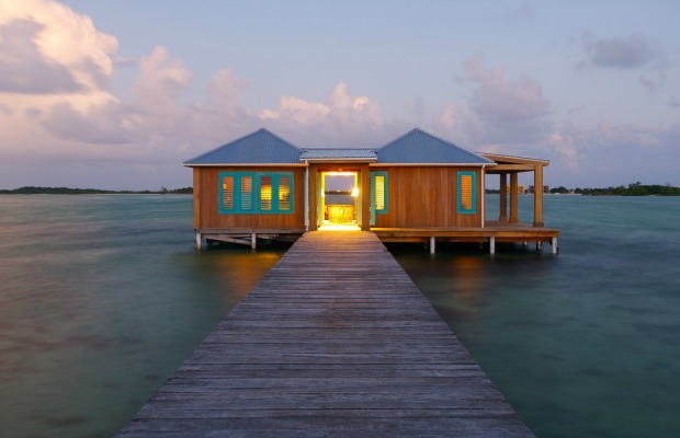 Bungalow at Cayo Espanto in Belize