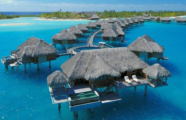 Bungalows at Four Seasons Resort Bora Bora