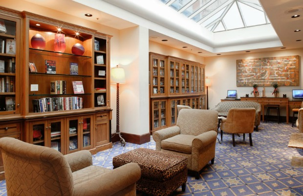 Mezzanine Library at The Heathman Hotel in Portland, Oregon