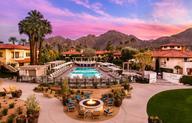 Pool area at Miramonte Resort in Indian Wells, California
