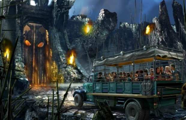 Rendering of Skull Island Reign of Kong at Universal Orlando Resort in Florida
